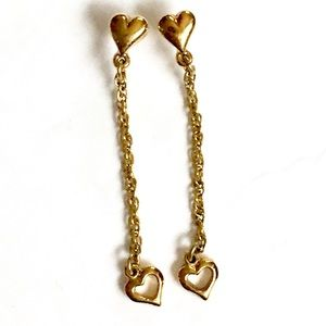 HEART Gold Dangle Earrings
